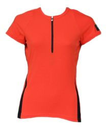 Ladies Chic Cap Sleeve Top Orange