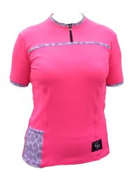 Ladies Bella S/S Top: Hot Pink
