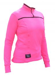Ladies l/S Top Flo Pink