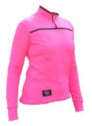 Ladies l/S Top Flo Pink