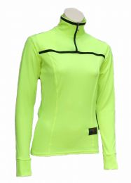 Ladies Long Sleeve Flo Yellow Biking Jersey