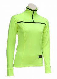 Ladies Long Sleeve Flo Yellow Biking Jersey